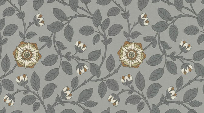 Little Greene Richmond Green Wallpaper in Platinum