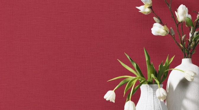 P&S International Graphics Plain Red Wallpaper