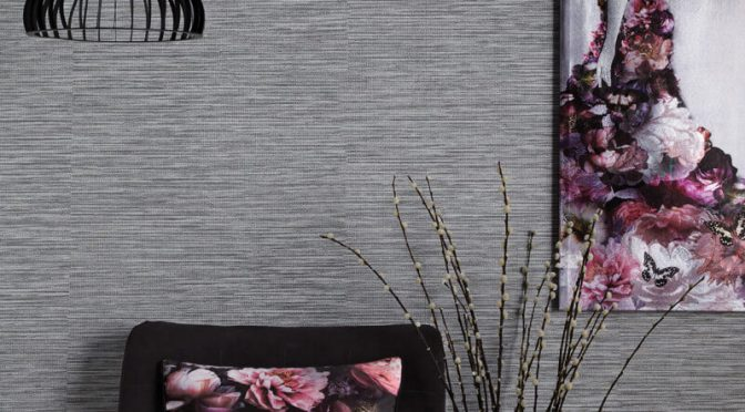 Arthouse Suki Plain Silver Wallpaper