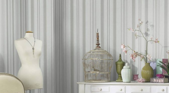 Erismann Cassiopeia Striped Ivory Wallpaper