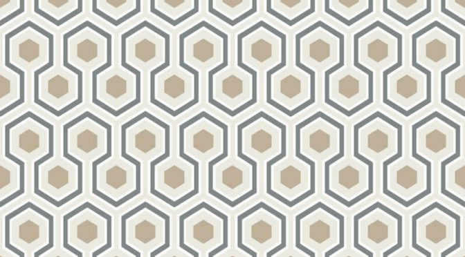 Cole & Son Hicks Hexagon Gold/Cream Wallpaper