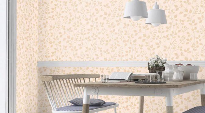 Erismann Cassiopeia Leaf Gold Glitter Wallpaper