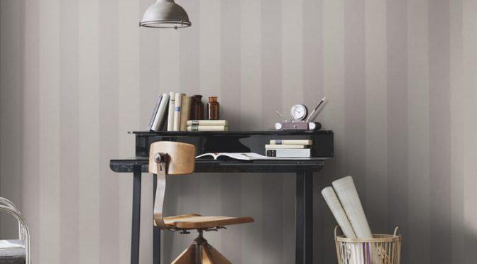 Erismann Cassiopeia Striped Taupe Wallpaper