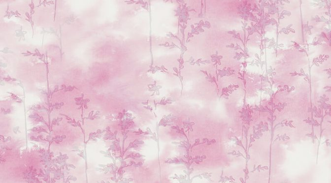 Nina Hancock Watercolour Trees Pink Wallpaper