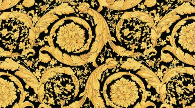 Versace Barocco Flower Gold Metallic Wallpaper