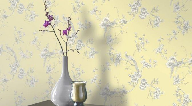 Arthouse Chinoise Wallpaper in Yellow