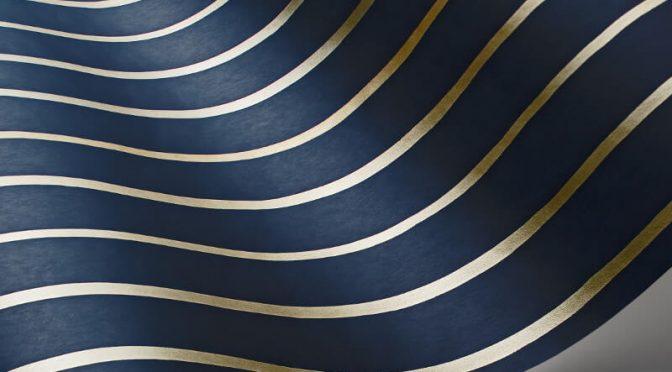 Cole & Son College Stripe Ink Wallpaper