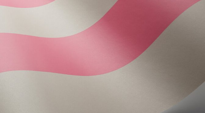 Cole & Son Glastonbury Stripe Pink/Linen Wallpaper