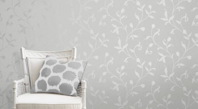 Fine Decor Quartz Trail Silver Glitter Wallpaper