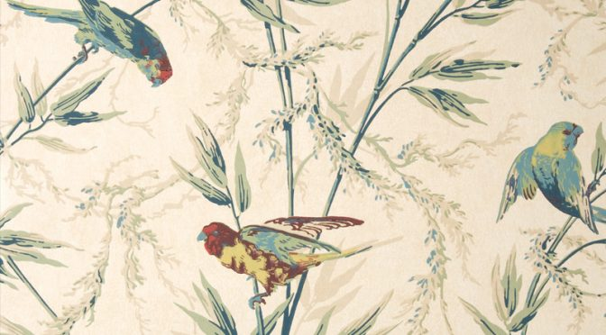 Little Greene Great Ormond Street Wallpaper in Parchment