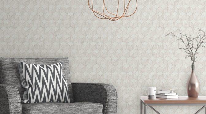 Muriva Renley Geometric Stone Wallpaper