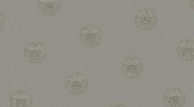 Versace Vanitas Motif Silver Metallic Wallpaper