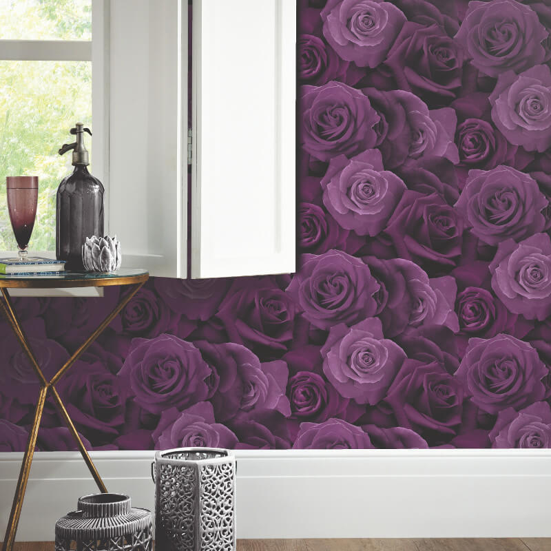 Arthouse Austin Rose Purple Wallpaper Arthouse Opera