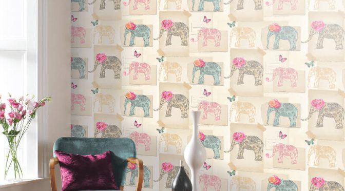 Arthouse India Rose Multi Wallpaper