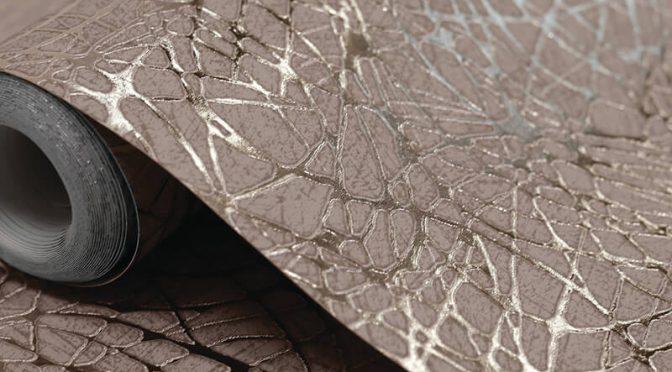 Arthouse Swirl Foil Metallic Rose Gold Wallpaper