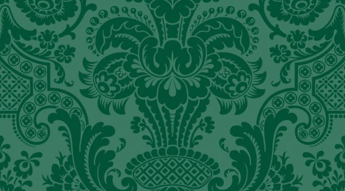 Petrouchka Green Wallpaper