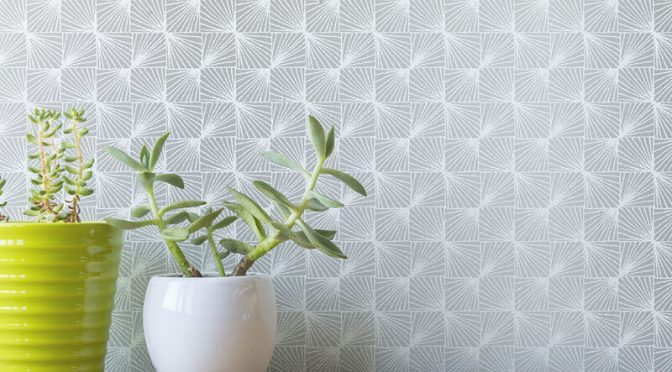 Coloroll Stockholm Geometric Silver/Grey Wallpaper