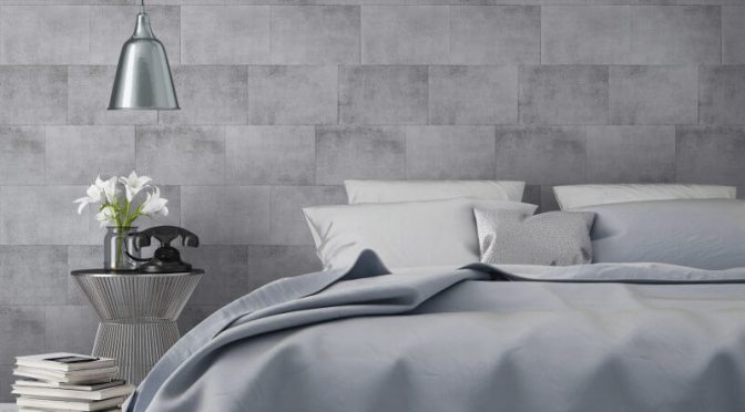 Metallic Brick Silver Wallpaper