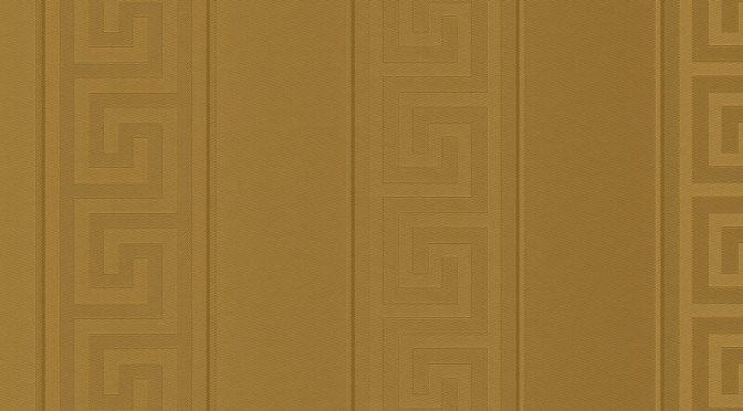 Versace Greek Key Stripe Gold Metallic Wallpaper