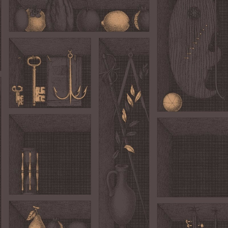 Nicchie Charcoal Gold Wallpaper Cole Amp Son Fornasetti Ii