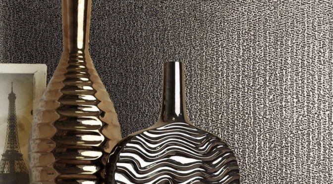 Muriva Eli Texture Bronze Metallic Wallpaper