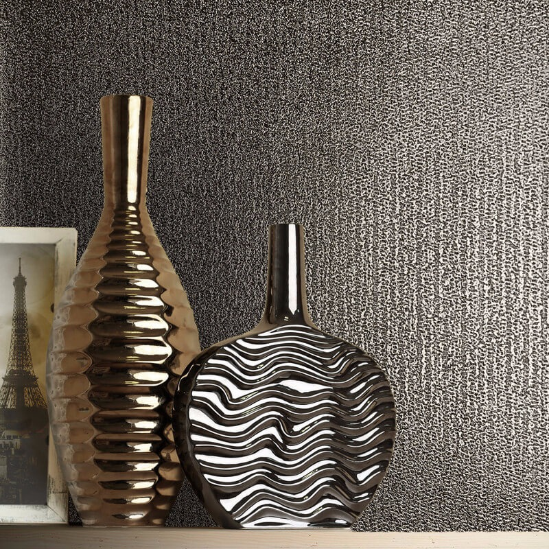 Muriva Sparkle Wallpaper Bronze: Eli Texture Bronze Metallic Wallpaper