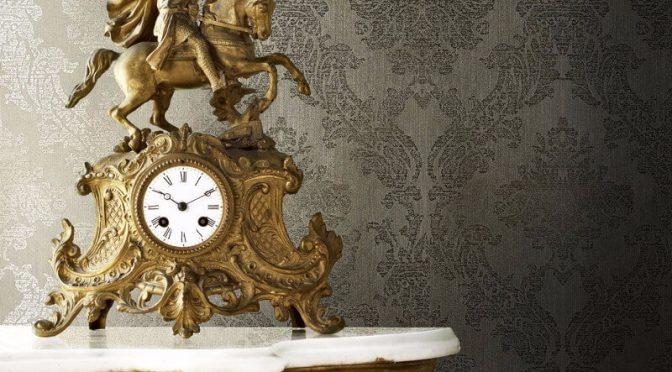 Gia Damask Gold Metallic Wallpaper