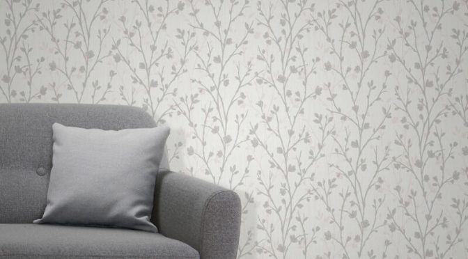 Fine Decor Twiggy Tree Grey Wallpaper