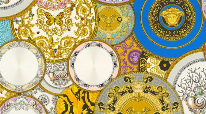 Versace Les Etoiles Dish Multi Metallic Wallpaper