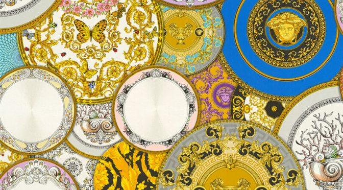 Les Etoiles Dish Multi Metallic Wallpaper