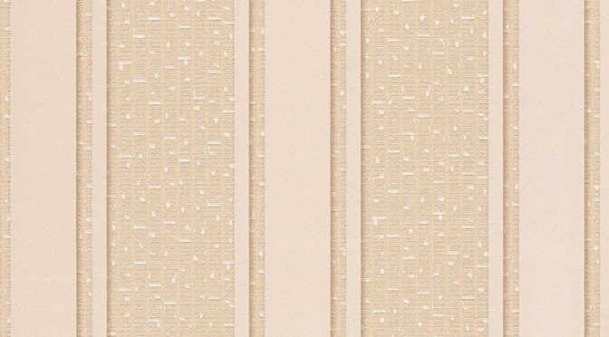 Versace Greek Stripe Motif Cream Metallic Wallpaper