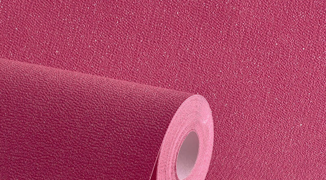 Plain Fuchsia Pink Glitter Wallpaper