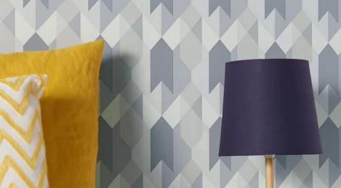 Copenhagen Geometric Grey Wallpaper