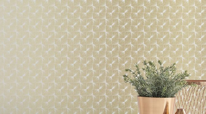 Coloroll Stockholm Geometric Gold Wallpaper
