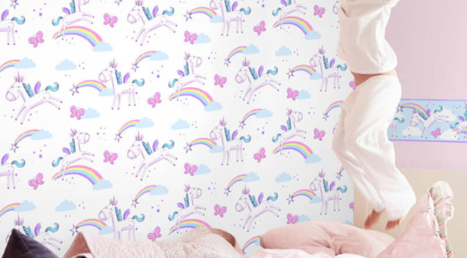 Fine Decor Unicorn Multi Wallpaper