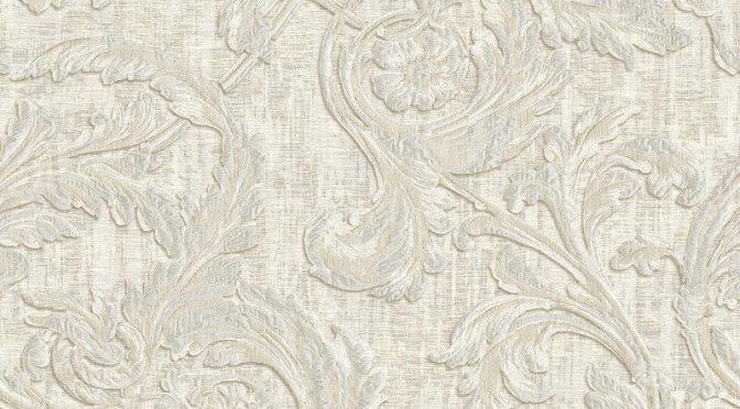 Muriva Kastra Scroll White Wallpaper
