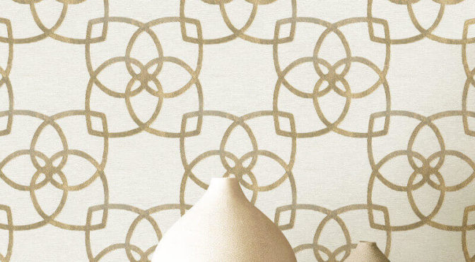 Marrakesh Geo Gold/Champagne Metallic Wallpaper