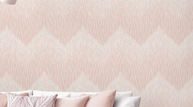 Holden Decor Fragment Chevron Blush Glitter Wallpaper