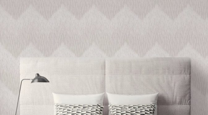 Holden Decor Fragment Chevron Grey Glitter Wallpaper