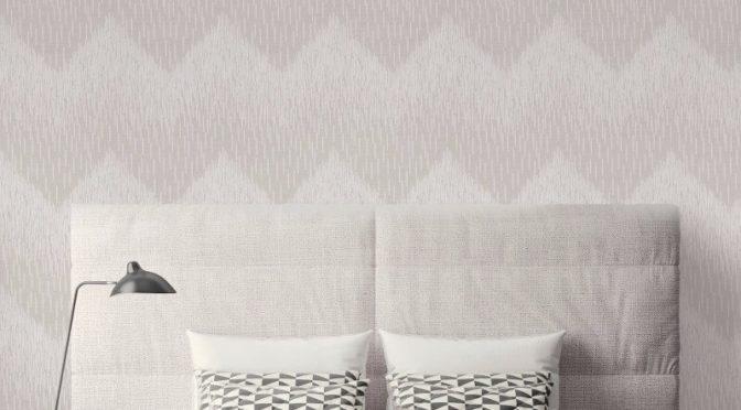 Fragment Chevron Grey Glitter Wallpaper