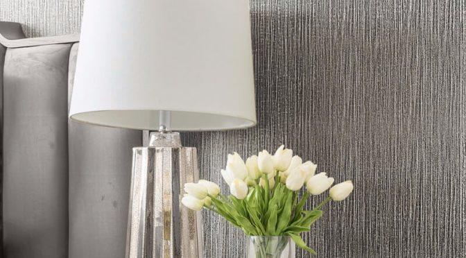 Muriva Serena Texture Silver Metallic Wallpaper