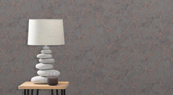 Fine Decor Marblesque Marble Charcoal/Bronze Metallic Wallpaper