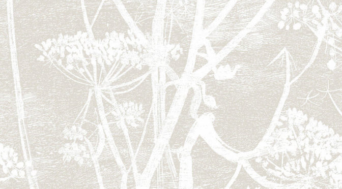 Cole & Son Cow Parsley Linen/White Wallpaper