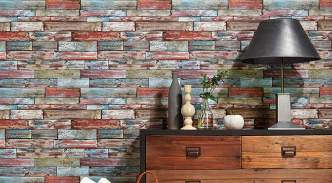 Erismann Authentic Wood Panel Multi Wallpaper