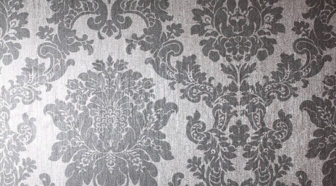 Arthouse Damask Silver Foil Metallic Wallpaper