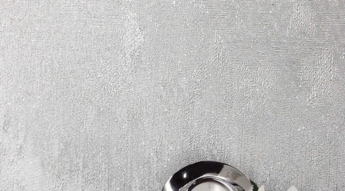 Crown Alexis Texture Silver Metallic Wallpaper