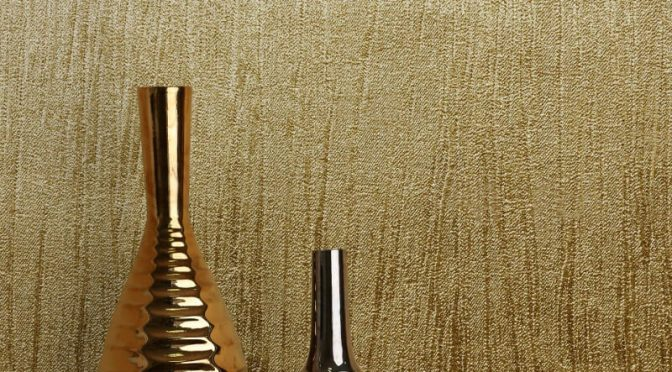 Crown Lustre Texture Gold Foil Metallic Wallpaper