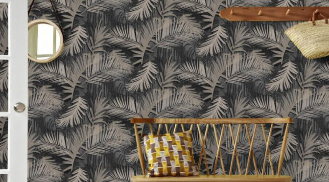 Graham & Brown Jungle Glam Black/Gold Metallic Wallpaper