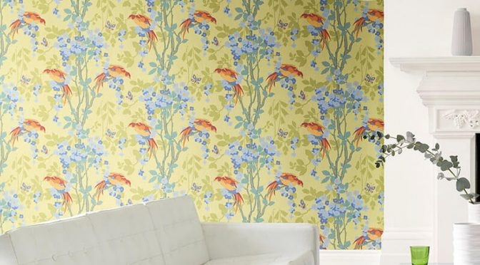 Little Greene Loriini Wallpaper in Jasper