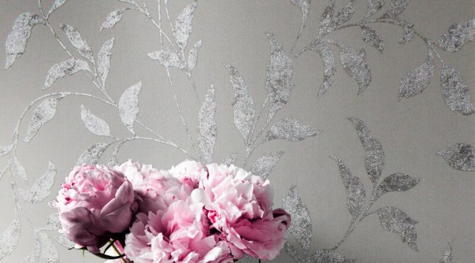 Muriva Cara Trail Silver Foil Metallic Wallpaper